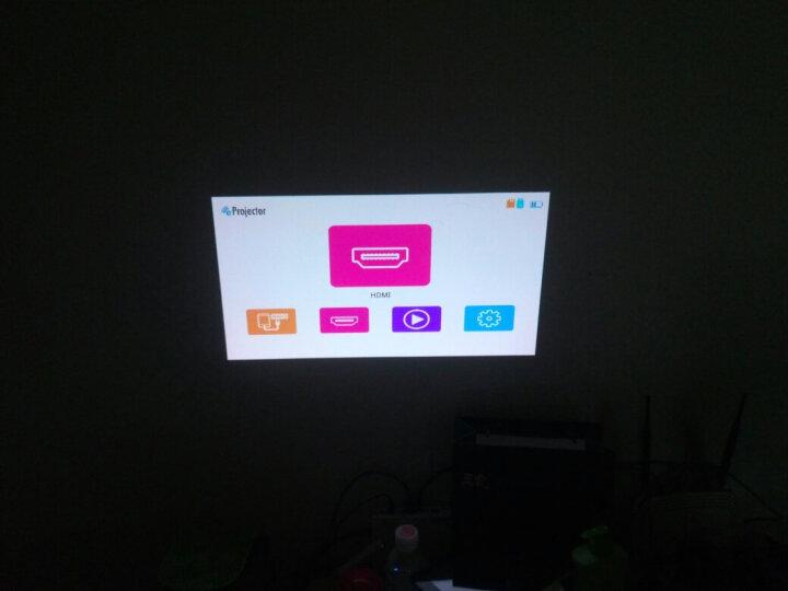清华美迅C1微型投影仪家用 便携式投影仪  手机wifi投影仪 智能办公投影机 投影仪 家用 迷你 白色 官方标配  有线同屏(银色、金色边框随机发货) 晒单图