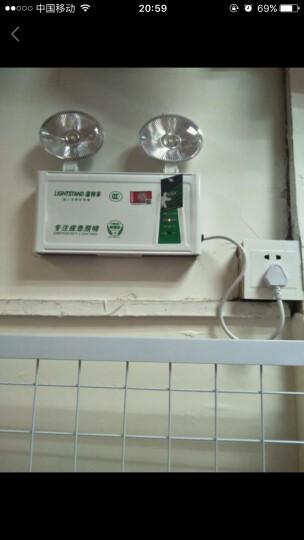温特孚双头消防应急灯新国标安全出口led停电充电照明灯紧急疏散指示灯 工程款 晒单图