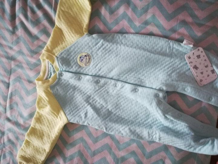 棉果果婴儿衣服新生儿夏季连体衣宝宝空调房哈衣爬服 MZ13303802 黄色 59码 晒单图