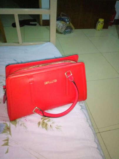 sxllns 女士时尚单肩手提包休闲牛皮斜跨女包包SX-DB1039 红色 晒单图