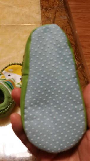 柳成行 卡通动物图案地板袜婴儿学步船袜 纯棉婴儿童袜子松口袜防滑棉袜 卡通布底鞋 绿色小牛 13码内径长12.5cm 晒单图