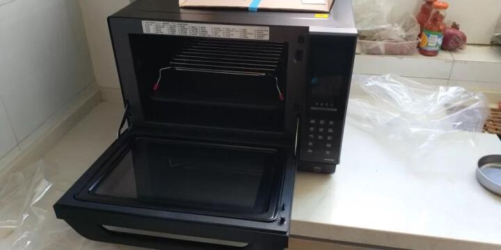 松下(Panasonic)变频蒸汽微波炉 烧烤烘焙一体 一级能效 27升 黑NN-DS1000 晒单图