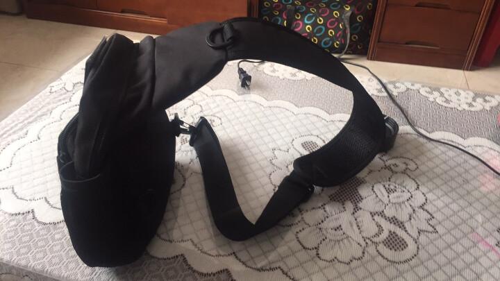 胸包男2018夏季新款男士户外特种兵迷彩胸前包单肩斜挎包防水带水杯腰包 黑色 晒单图