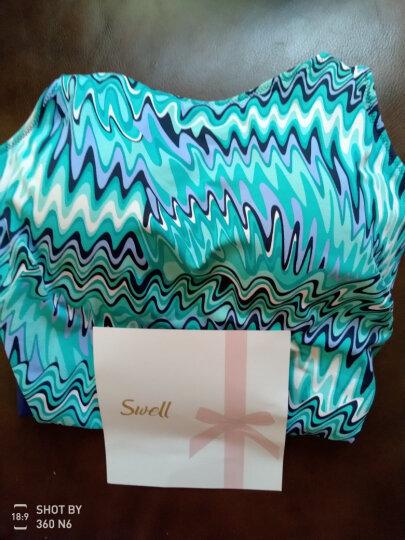 雪伦SWELL 连体式无裙摆三角义乳泳衣 7503泳衣 蓝绿色 蓝绿色 L 晒单图
