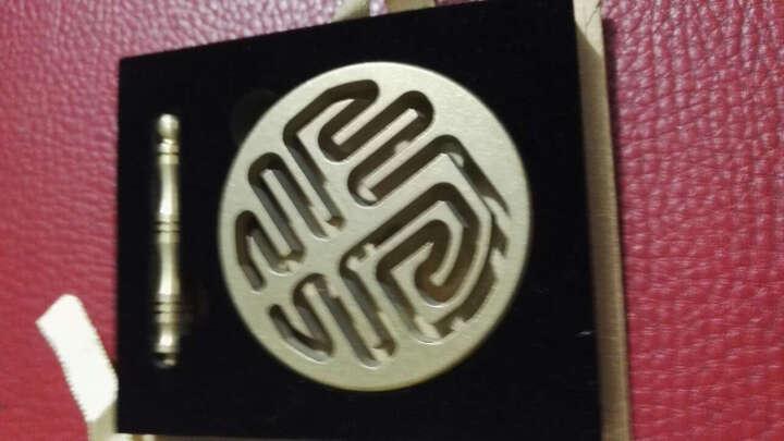铜香篆香拓 香道用具用品 打拓香模香 灰押/灰压 多款可选 香压小号-黑色 晒单图