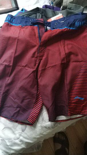 李宁(LI-NING)沙滩裤 五分泳裤 度假温泉运动男士泳衣LSKM009-1 XXXL码 晒单图