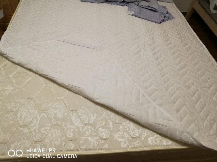 佳佰 床垫 床褥 褥子 床护垫 超薄透气舒适波纹(可选薄款/加厚/耐脏防滑) 150*200cm  单人1.5米床 可机洗 晒单图