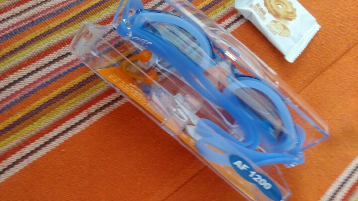 奇海(QIHAI)近视泳镜男女通用带度数游泳镜比赛训练游泳装备AF1200 蓝色450度 晒单图