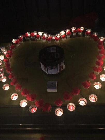 青苇 红蜡烛50 仿真玫瑰花50 防风杯100 玫瑰花瓣120 派对情人节结婚庆祝套装 晒单图