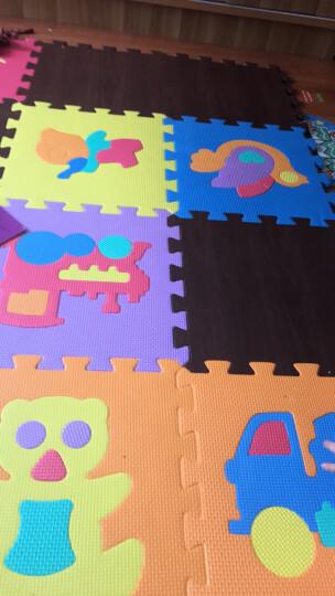 明德Meitoku 田园风系列 PE泡沫爬行垫宝宝爬爬垫客厅卧室防潮防滑儿童拼接垫 60*60*1cm(4片装) 粉色圆点 晒单图