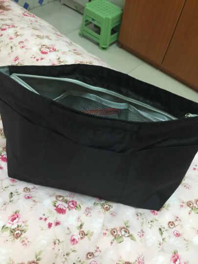 乐百格包中包韩版旅行化妆品收纳包防水内包整理袋女包多功内胆包 粉色 大号 晒单图