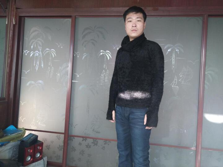 范克西2017秋冬新款时尚韩版套头高领毛衣男装加厚针织打底毛衫 白色 XL 晒单图