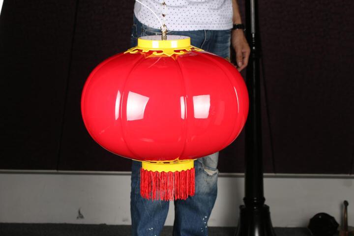海阁拉斯 LED灯笼 结婚喜庆传统宫灯新年春节中秋节日景观照明PVC塑料防水发光灯笼 120南瓜灯笼 晒单图