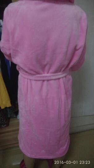 琼瑛浴袍春秋冬男女珊瑚绒加厚情侣睡袍法兰绒睡衣 女款玫瑰花朵 XL建议体重130-155身高180以下 晒单图