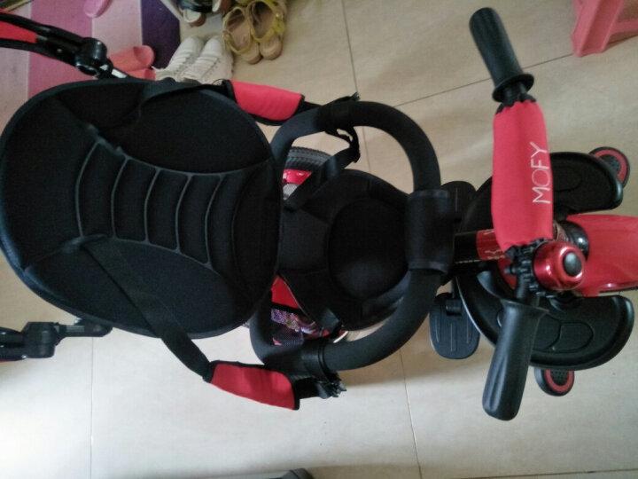 小虎子 大踏板 儿童三轮车 宝宝折叠脚踏车 婴儿车自行车 儿童车T300升级款 2018升级爆款 珊瑚红 晒单图