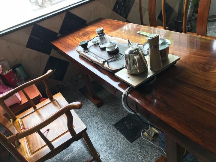 阿非利加 巴花实木大板奥坎原木老板桌 整木会议桌办公桌书桌洽谈桌 茶桌餐桌 1.6米+1官帽 晒单图