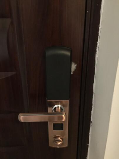 威恒指纹锁 智能锁 电子锁家用防盗门大门指纹密码锁门锁酒店锁 出租锁 半导体古铜色+锁体+不包安装 晒单图