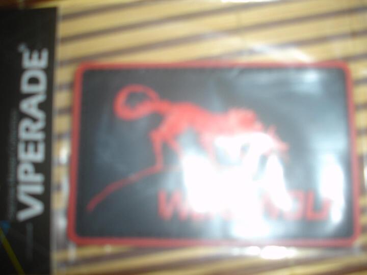 VIPERADE 蝰蛇  军迷魔术贴章 户外PVC背包个性魔术贴肩章胸章 服饰衣服臂章 赏金猎人-红色 晒单图