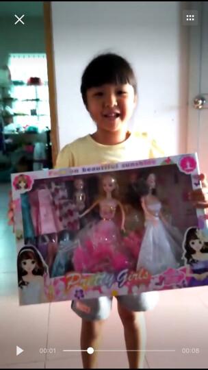 妙娃(MIAO WA) 换装可芭伦比娃娃公主套装大礼盒女孩儿童婚纱衣服过家家玩具娃娃便宜 粉色+白色款(无音乐) 晒单图