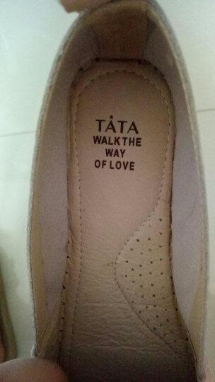Tata/他她休闲鞋一脚蹬懒人渔夫鞋平底单鞋2FY35AQ7 黑色 39 晒单图