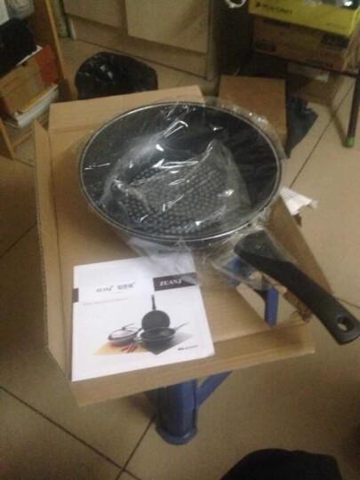 钻技(ZUANJ) 进口不粘锅 炒锅32CM不粘炒锅可立式锅盖 电磁炉燃气通用ZJ-NW32 赠送木铲 晒单图