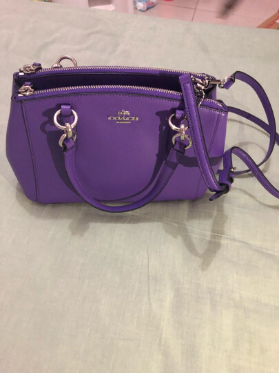 蔻驰(COACH) 奢侈品 奢侈品 女士紫罗兰色皮质单肩手提杀手包小号 F36704 SVPX 晒单图