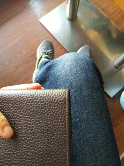 花花公子playboy 男士钱包短款牛皮革横款卡包多功能多卡位休闲钱夹PAA5983-6C 啡色 晒单图