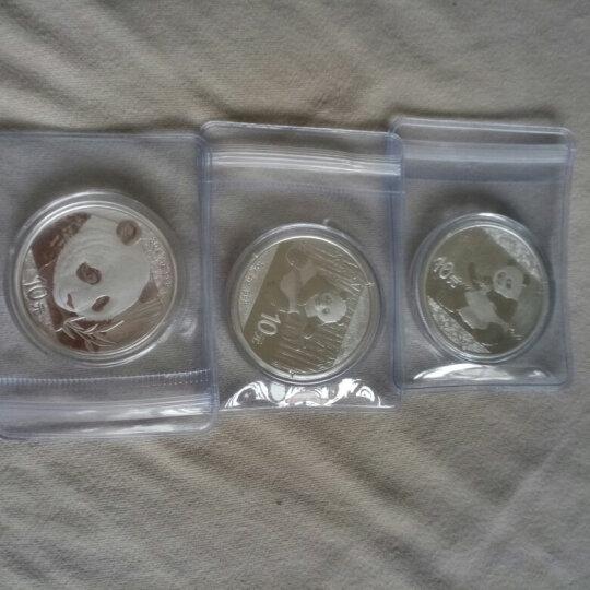 河南钱币 中国金币2017年熊猫金银纪念币 30克熊猫银币 木盒 晒单图