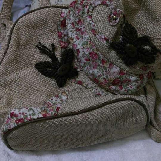 [限量送帽子]喀斯特女生小背包双肩包小号休闲包甜美淑女孩包包 配草编帽子 晒单图
