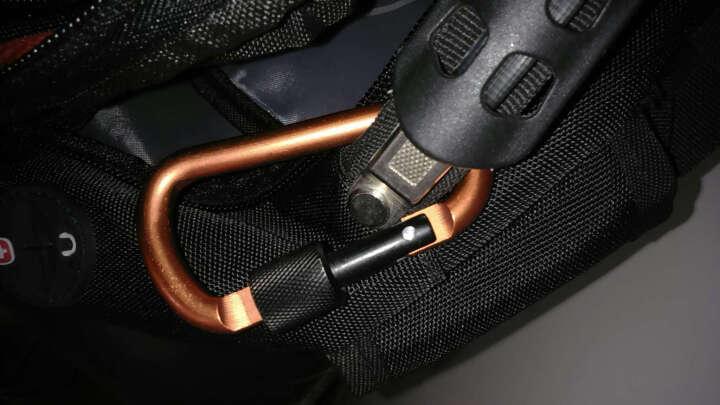 户外登山扣 快挂D型8CM 带锁铝合金特硬结实螺母扣 橘色 晒单图