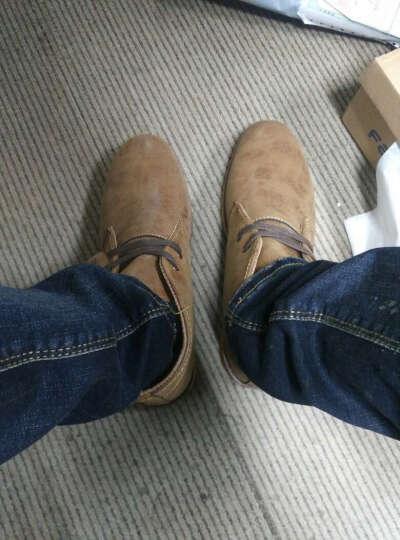 特工狼男靴 2017新款春夏季马丁靴中低帮英伦雪地工装军靴男士皮靴鞋子男T2 黑色 41 晒单图