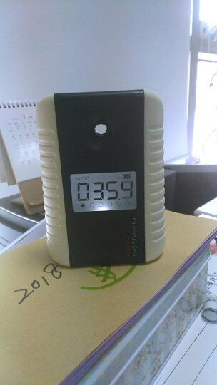 艾吉奥家用PM2.5检测仪雾霾PM2 5检测仪粉尘检测仪器霾表空气质量检测仪环境测霾监测仪 釉底红 晒单图