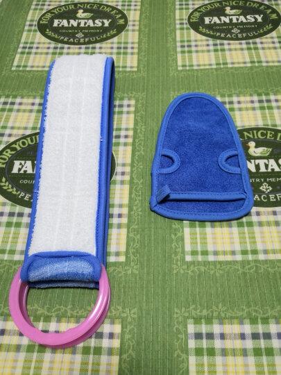 乾越 搓澡巾搓背拉背条成人加厚强力免搓手套搓泥灰后背长条洗澡巾 两件套【搓澡巾+搓背条】(蓝色) 晒单图
