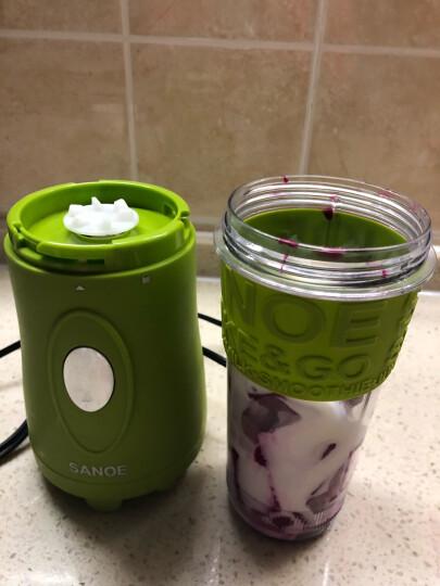 思乐谊(SANOE) B102榨汁机 便携迷你 家用 榨汁杯 果汁 搅拌 奶昔 研磨电动 草绿色 晒单图