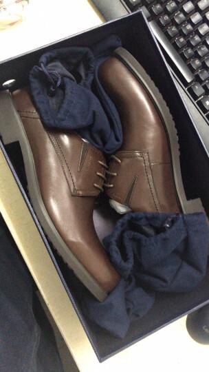 Sheridan喜来登正品皮鞋男真皮商务青年潮黑色 秋季商务正装系带皮鞋男S802 黑色-1 38 晒单图