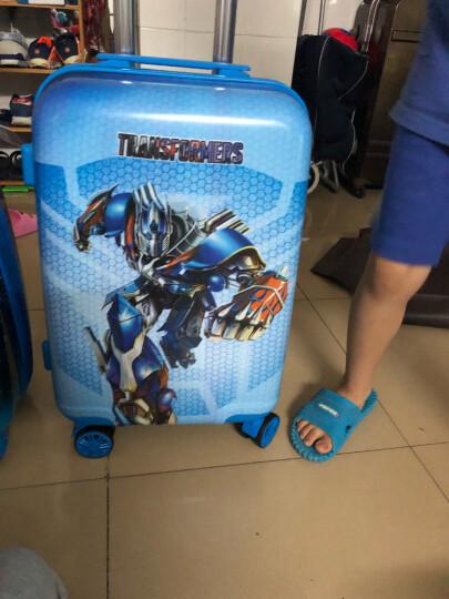 生日礼物学生儿童生日礼物实用新款20寸儿童拉杆箱旅行箱万向轮登机行李箱卡通书包男女带锁拉杆箱密码箱 变形金刚-送文具套装 晒单图
