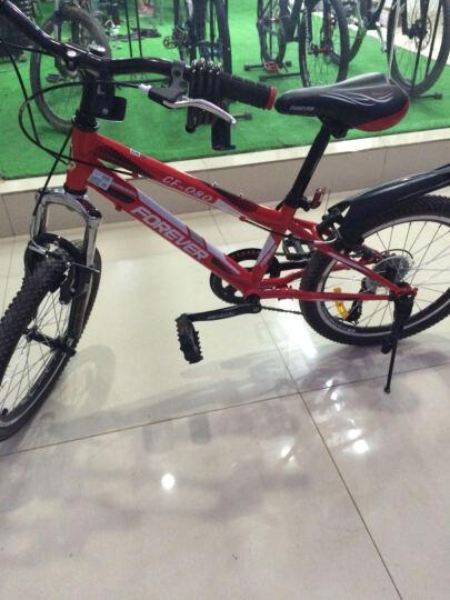 永久20寸山地自行车 铝合金刀圈6速儿童山地自行车 CF080型 红白色 20吋 晒单图
