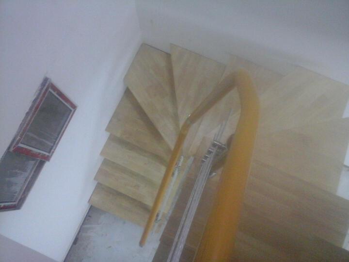 蓝伦索 室内家用钢木脊索复式楼梯 定制楼梯 楼梯扶手 40mm踏板+高品质立柱249元/踏 晒单图