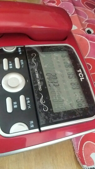 TCL HCD868(206)固定有绳电话机/座机/免电池免提大屏幕大按键屏幕可抬起双接口复古家用办公座机(红色) 晒单图