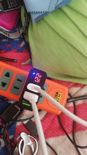 毕亚兹(BIAZE) 3口USB充电器 手机平板充电插头 数字显示 M11黑色 支持苹果/三星/小米/华为/OPPO/VIVO 晒单图