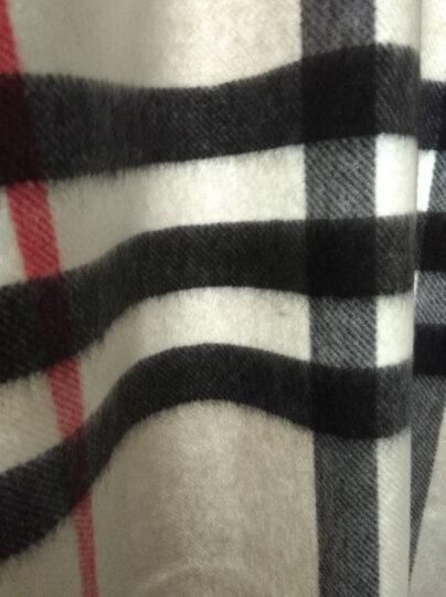 BURBERRY 巴宝莉围巾 男士女士秋冬羊绒经典格纹格子长围巾 白色 4058352 晒单图