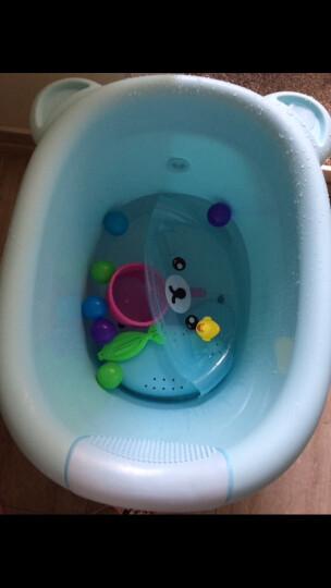 日康浴桶儿童洗澡桶宝宝大号加厚可坐浴盆0-15岁泡澡桶婴儿小孩沐浴桶 蓝星王子 小号 晒单图