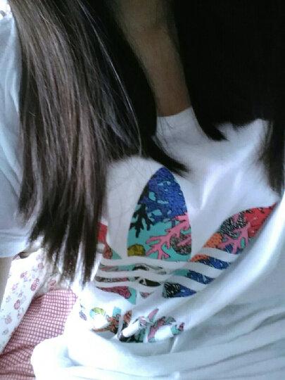 ADIDAS阿迪达斯三叶草短袖女2020夏新款运动休闲圆领透气短袖T恤FM3306 FM3295/珊瑚粉 S(165/80A) 晒单图