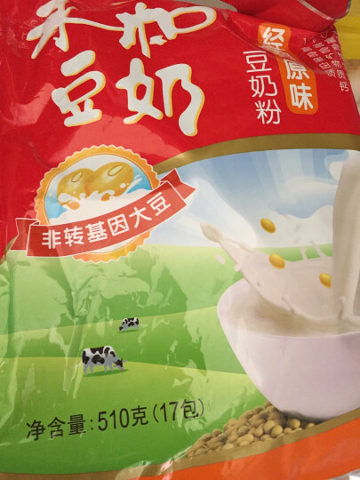 永和豆浆 经典原味豆奶粉 AD高钙 510g(30g*17小包) 晒单图