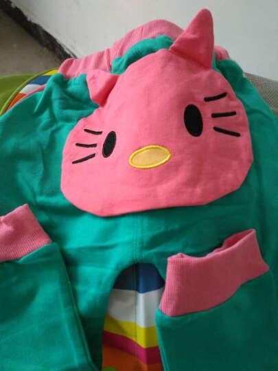 0-6个月婴幼儿服装0-1-2岁女宝宝套装棉衣纯棉卡通可爱卫衣儿童装一岁秋装两岁婴儿春秋装 粉兰  针针绒  加厚小猫套装 90/52(身高87-95cm) 晒单图