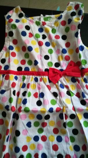 馨颂 女童纯棉无袖连衣裙夏季款清新印花公主裙儿童裙子 橙粉 F035C 120 晒单图