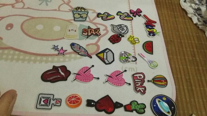 Chenkou Craft 可爱卡通布贴花补丁 电脑刺绣花服装装饰辅料补丁贴花 10# 混色20个 晒单图