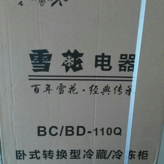 雪花 110升 单门小型冷柜 冷藏冷冻转换型冰柜 卧式两用 限时折扣 晒单图