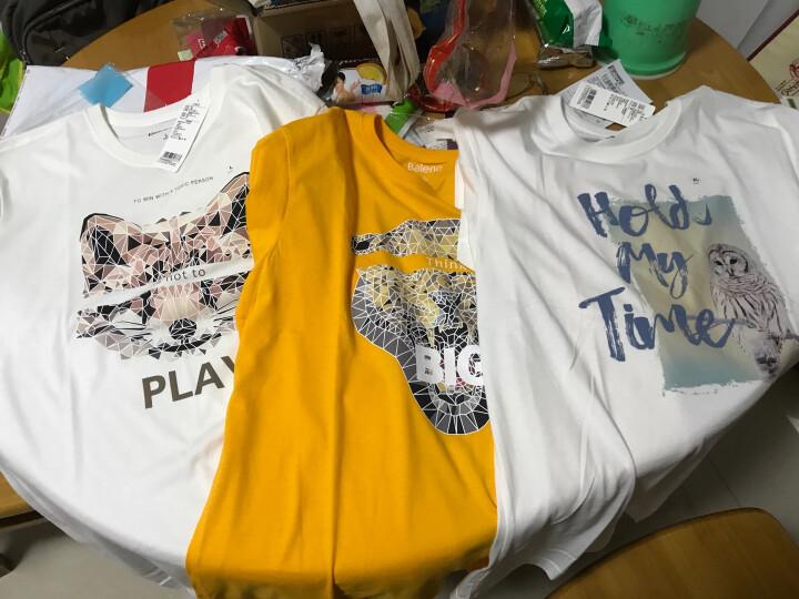 【售罄】Baleno/班尼路 夏季动物印花T恤男 纯棉休闲潮流半袖体恤男装 W97漂白 L 晒单图