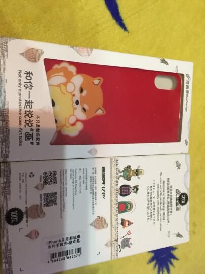亿色(ESR) 苹果iPhonex手机壳/手机套防摔全包/卡通男女适用 钢化玻璃背板+透明硅胶软边  琉璃款-萌柴柴 晒单图